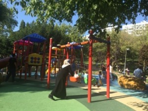 .. and one of its kids' playgrounds