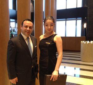 GM Joe Ghayad and a LT Bar and Grill hostess