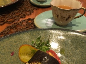 Tea pairing with the starter