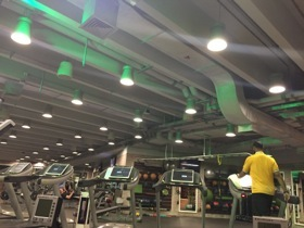 The gym, at 0535