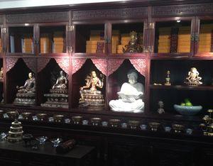 The Living Buddha's receiving room