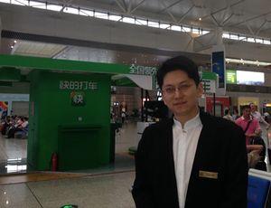 Farewell, at Hongquio train station