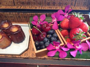 Fruit and things, in an antique Chinese chest