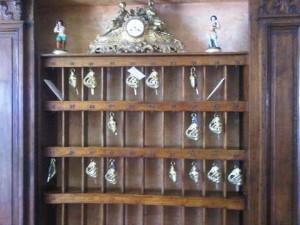 Room keys at La Sireneuse luxury hotel