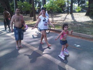 Local of all ages at Sao Paulo's Ibirapuera Park