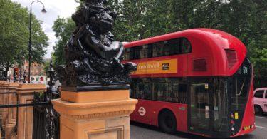 Bus Next to the Kimpton Fitzroy Hotel London