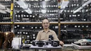 David Chan in his photo shop