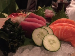 Sashimi, with cucumber
