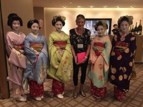 A geisha welcome at Hyatt Regency Kyoto ....