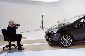 Karl Lagerfield photographs Choupette