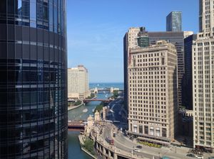 View down to Chicago River
