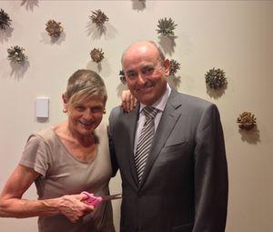 Bob Schofield - and Langham-pink scissors