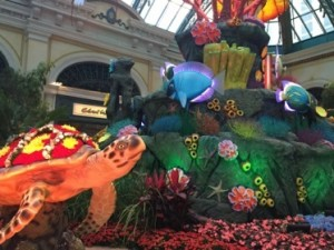 A display in Bellagio's lobby conservatory