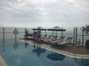 The 11th floor terrace pool