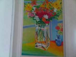 There are hundreds of paintings around the La Samanna luxury resort...