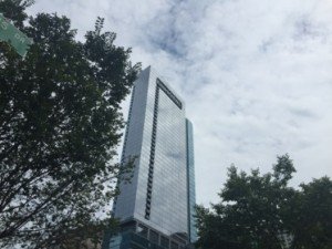 The 52-storey high hotel