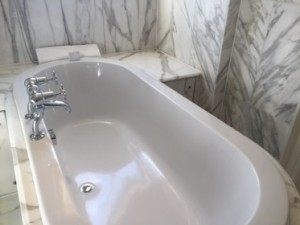 The beauty of tub and surrounding marble