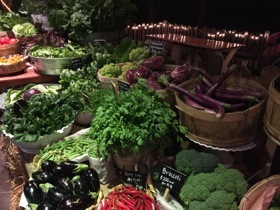 .. produce stalls