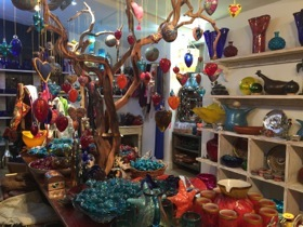One of The Farm's shops sells local crafts