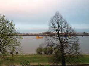 Looking across the Elbe from Elbchaussee