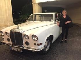 1955 Daimler arrival