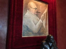 Churchill memorabilia in the suite
