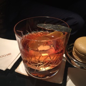 A Negroni comes with a macaroon