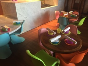 Kids have their own room at the breakfast restaurant