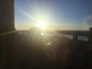 Sunset from suite 5100