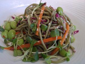Green noodle salad
