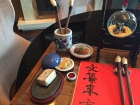 Calligraphy set - completely edible, honestly