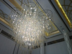 There are hundreds of glorious chandeliers around the hotel