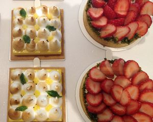 Strawberry, and other tarts, in Gourmet Shop