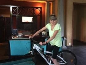 Cycling through the lobby