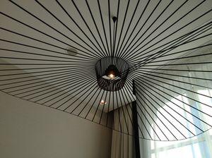 The presidential suite's bathroom chandelier..