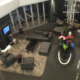 Looking down into the lobby