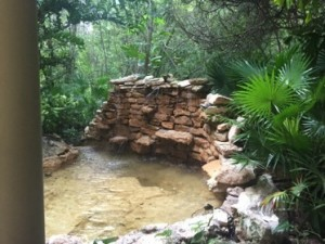 The spa's relaxation area now has a pool and waterfall