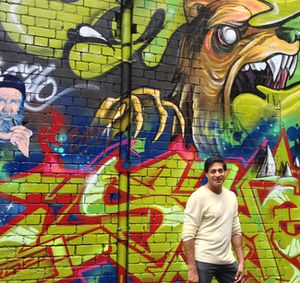 Antony Zaki in Hosier Lane