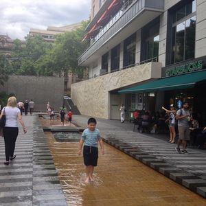 Kids paddling…