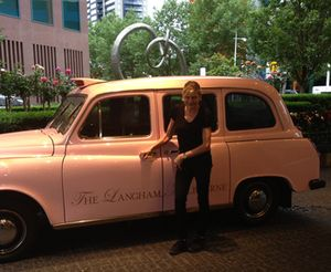 The hotel's town car