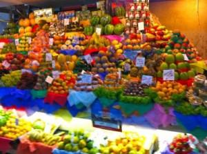 Produce in São Paulo's Municipal Market