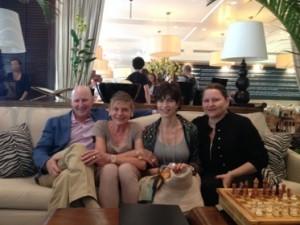 Jonathan Plutzik, Lesley Goldwasser and, far right, Deborah Plutzik-Briggs
