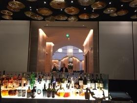 View across MIO bar counter to the lobby Winter Garden