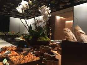 MIO's bar counter becomes a super-stylish breakfast display