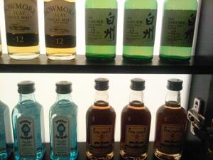 Miniature bottles in Park Hyatt Tokyo's minibar