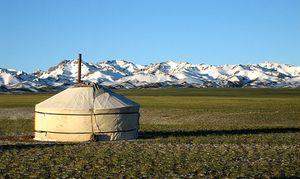 A yurt in Mongolia