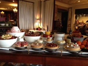 .. and part of the dessert trolley