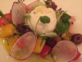 After that, a salad with local Italian-made burrata