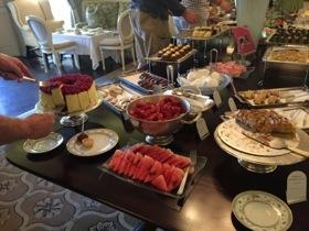 An afternoon tea spread
