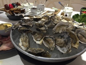 Oysters at breakfast